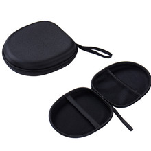 Hot Sale Headphone Earphone Headset Carry Case Pouch For Sony Gaming Headphone Earbuds Small Data line Storage Bag Black(China)