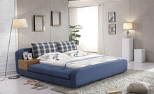 blue big modern fabric soft sleeping bed contemporary bedroom furniture China King size