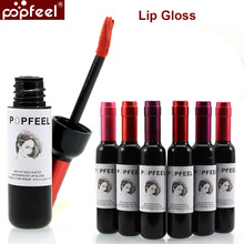 LW1/2/3/4/5/6 Wine Bottle New Design lip tint Waterproof lipgloss  Long Lasting Stained Glaze Liquid Lip Gloss Lips Makeup
