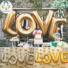 "4pcs large silver letters ""LOVE"" foil balloons wedding party decoration Helium Balloon inflatable letters air balls supplies GYH(China)"