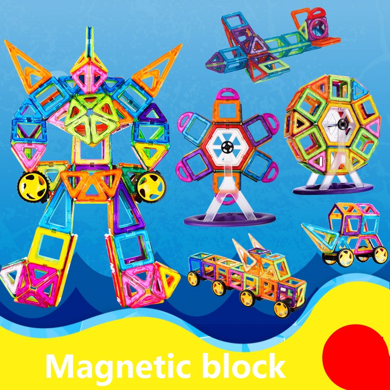 Magnetic building block sets  Skills Educational Game&amp;Building Toy Plastic Magnetic Blocks Educational Toys For Kids Gift<br><br>Aliexpress