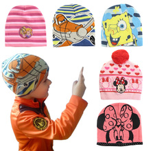 Limited sales Cartoon Character Styles Baby Kids Winter Skullies & Beanies Accessories Children Hero and Hats & Caps