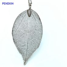 2016 Free Shipping Europe and the United States fashion jewelry wholesale beautiful maple leaf plant really leaves necklace