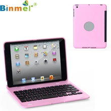 Binmer Mecall Slim Wireless Bluetooth 3.0 Keyboard Stand Case Cover For Apple for iPad Mini(China)