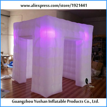 DHL free ship 7.8ft with 8 bulbs white cube digital photo booth(China)