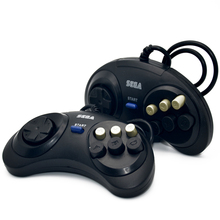 2 X Classic Wired 6 Buttons Sega Button Game Controller Joypad for SEGA Genesis/MD2 Y1301/ PC /MAC  Mega Drive Snes