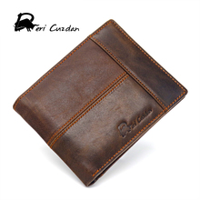 DERI CUZDAN Genuine Leather Wallet Men Short Wallet with Zip Coins Purse Photo Top 10 Mens Wallets Brands Male Purse Vintage