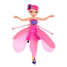 New DIY Flying Fairy Dolls Learning & Education Infrared Induction Control Flying Angel Doll Baby toys for girls Xmas Gift