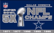 DALLAS COWBOYS USA Football NFL 5 3ft 150 90cm SUPER BOWL Champion(China)