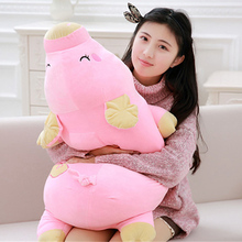 Fancytrader Lovely 90cm Big Cartoon Pig Plush Pillow 35inch Giant Soft Animal Pink Pigs Stuffed Toy Doll Gifts for Children