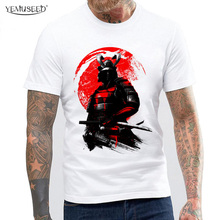YEMUSEED Punk Style Samurai Warrior Tops Summer Fashion Short Sleeve Plus Size T-shirts Hip Hop Street Tees MTE22