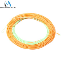 Maximumcatch ConnectCore Shooting line 100ft PaleGreen/Orange 20lb Floating Weight Forward Fly Fishing Line with 2 Welded Loops