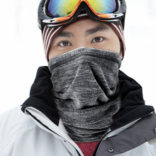 QILIONG winter Thermal  neck warmer Neck Gaiter Scarf cold weather Warm Fleece Balaclava half Face Mask