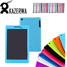 Shockproof Silicon Tablet Case  For Lenovo tab2 A7-20 Soft Protective silicone Case Cover For Lenovo Tab 2 A7-20F / A7 20F