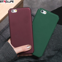 Buy STROLLIFE Retro Wine Red Scrub Phone Cases iPhone 8 8Plus 6 6s 7 7Plus Ultra Slim Cool Green Hard Shell Frosted Full Cover for $1.34 in AliExpress store