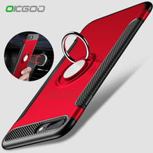 OICGOO Luxury Shockproof Case For iPhone 7 7 Plus Case Metal Ring Holder Combo Full Cover For iPhone 6 6s Plus Phone Capa Coque(China)