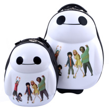 "Baymax fashion kids backpack students boy girl luggage anime Big Hero 6 cartoon Tourism travel suitcase 17"" cute children gift"