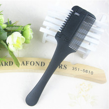 1 Pcs Professional Hair Razor Comb Black Handle Hair Razor Cutting Scissor Home DIY Thinning Trimmer Hairdressing For Lady