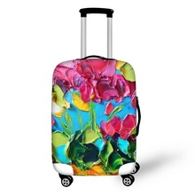 FORUDESIGNS Art Oil Painting Print Suitcase Protector Covers For 18'-28' Travel Trolley Luggage Dustproof Anti-Scratch Wholesale(China)