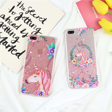 Buy Shiny Unicorn Glitter phone Cases iphone 7 7Plus 8 8plus flower Garland soft silicon Case iphone 6 6s 6Plus 6splus for $3.10 in AliExpress store