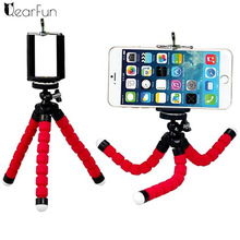 Mini Portable Flexible Sponge Octopus Tripod Bracket Stand Mount Monopod + Phone Holder For Gopro Camera DSLR Mount
