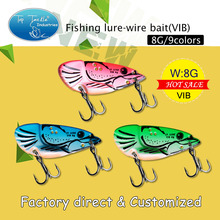 2016 Free Shipping Shrimp shape Wire Bait VIB Spoon Lure Fishing Lures Middle Size 8.5G