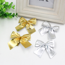 Wholesale!24PCS Gold and silver Of Christmas Tree Bow Decoration Baubles For Christmas Decoration Supplies