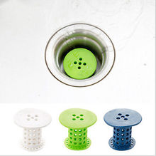 Drain Hair Stopper Cover Filter Sink Strainer Silicone Bath Kitchen Shower Use Waterway filter of   Bathroom Accessory