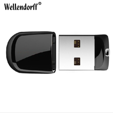 Hot Black Mini USB Flash Drive 16GB pen drive 64GB 32GB 8GB 4GB pendrives usb Storage Flash Drive card Memory Stick gift(China)