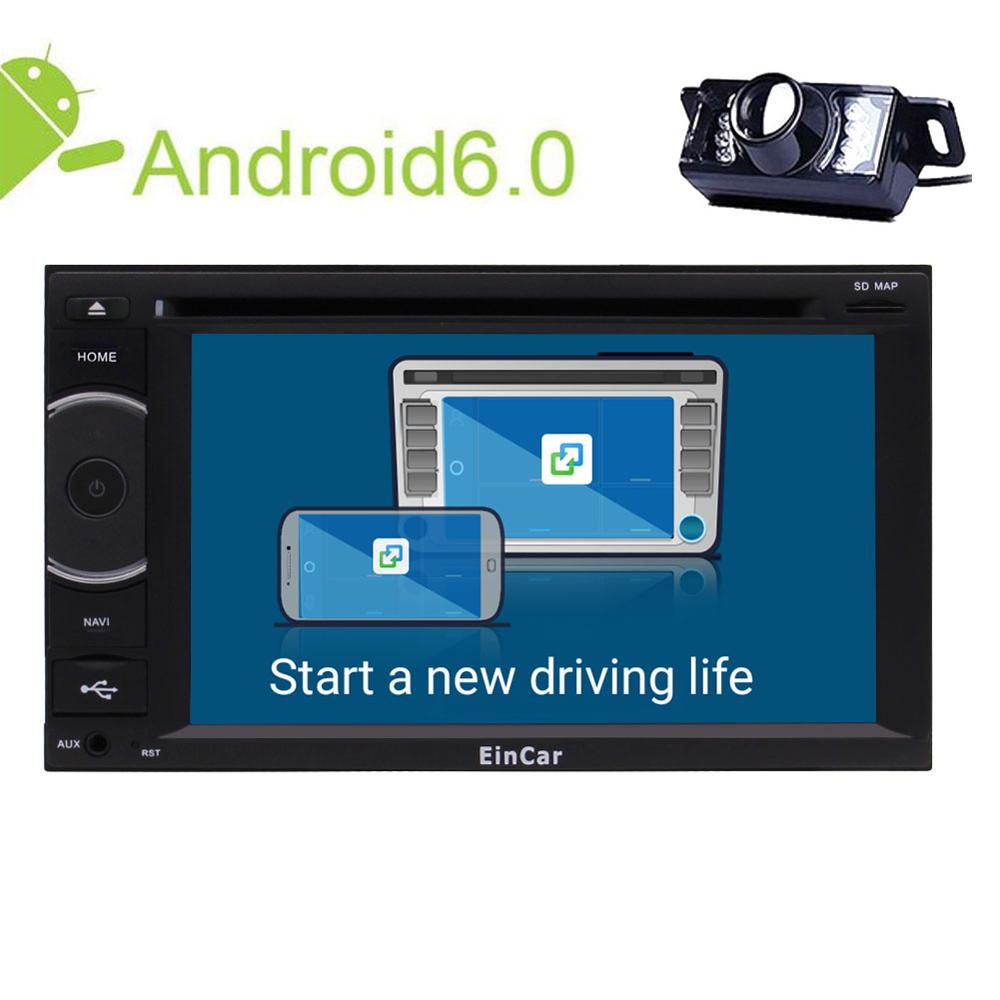 Android 6.0 Car dvd Stereo Backup Cam 2Din In console GPS Navigation Radio Receiver Bluetooth Headunit WiFi External Microphone