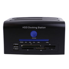 2.5 3.5 SATA Hard Disk Drive HDD Docking Station Clone USB HUB Card Reader High Quality
