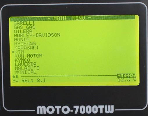 MOTO 7000TW Universal Motorcycle Scan Tool o