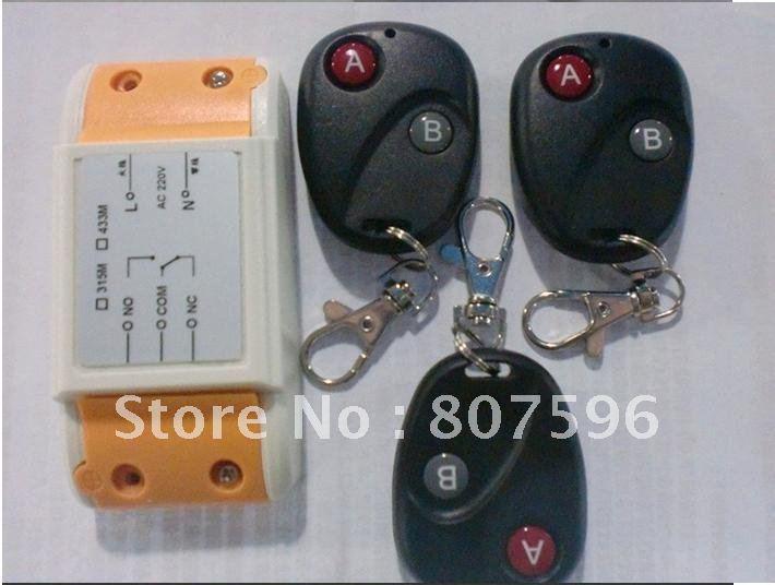 Best price 10 pcs 1CH AC 220 V RF Wireless Remote Control System / Radio Switch - 3Transmitter &amp; 1Receiver<br><br>Aliexpress