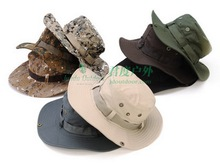 by dhl or ems 200pcs Military Bucket Hat Camo Fisherman Cap Wide Brim Bonnie Hats Outdoor Camping Hunting Fishing Caps Sunhat(China)