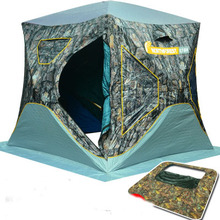 2017 Winter Tent for Family 3-4 Persons Ice Fishing Tent Cotton Canvas Quick Open Tents(China)