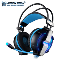 KOTION EACH g7000 Vibration Function BLN Headband gaming headphones headset earphone for computer game surround 7.1 channels MIC