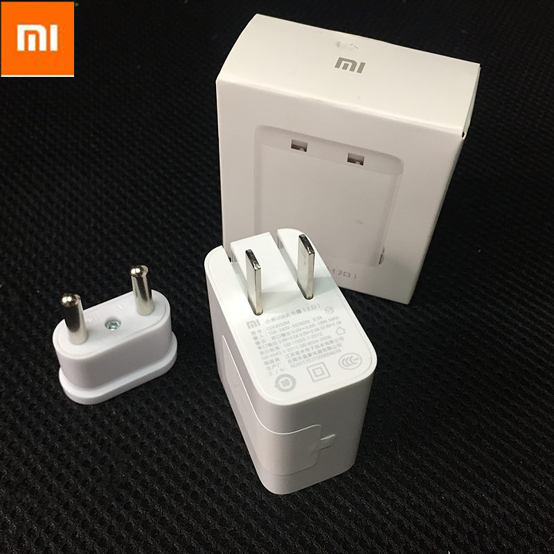 Original XIAOMI Travel Charger Dual Usb Ports Wall Charger Support Qualcomm Quick Charge 3.0 Data Cable