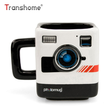 Transhome Creative Photo Mug 350ml New Fashion Coffee Mug British Mustard Photo Polaroid Camera Lens Cup For Office Novelty Gift(China)