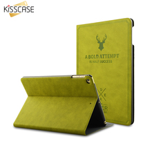 KISSCASE Deer Pattern Smart Wake Up Case For iPad Mini 1 2 3 4 Ultra Thin Flip Leather Stand Protect Cover For iPad Mini 1 2 3 4(China)