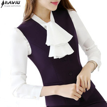 Autumn OL fashion women work wear vest skirt suit formal career ladies office vest suits plus size business uniforms