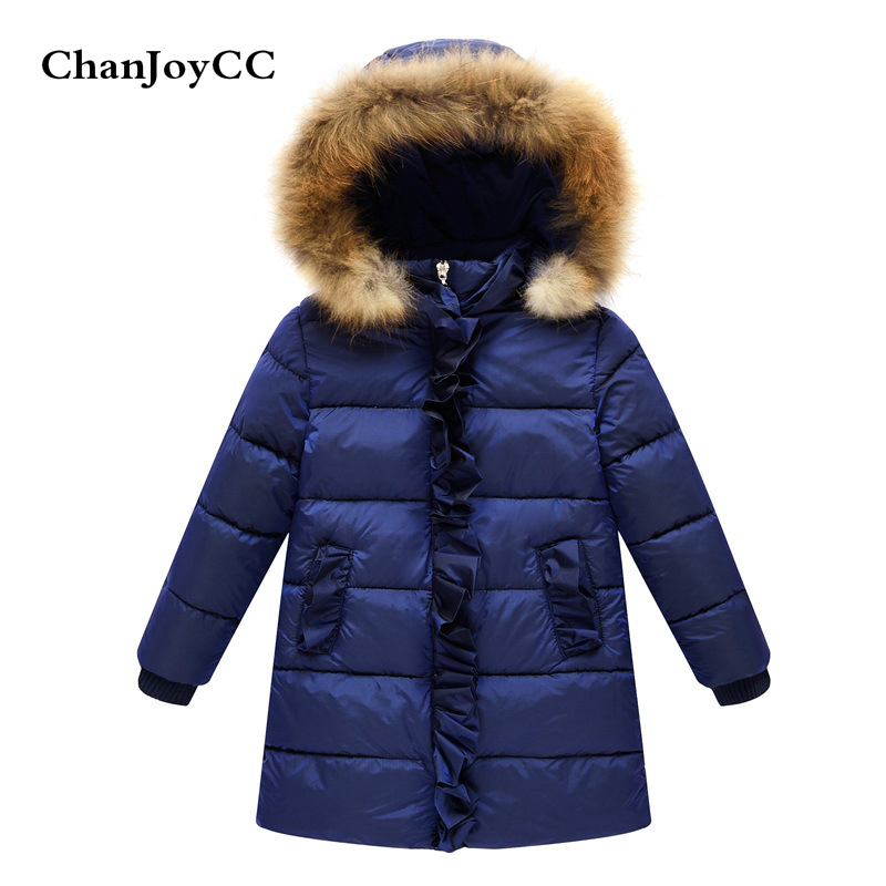 Winter Down Jacket Parka For Children Coats Girls Thickening Warm Hooded Clothing Snow Wear Kids Outerwear Children Clothing<br>