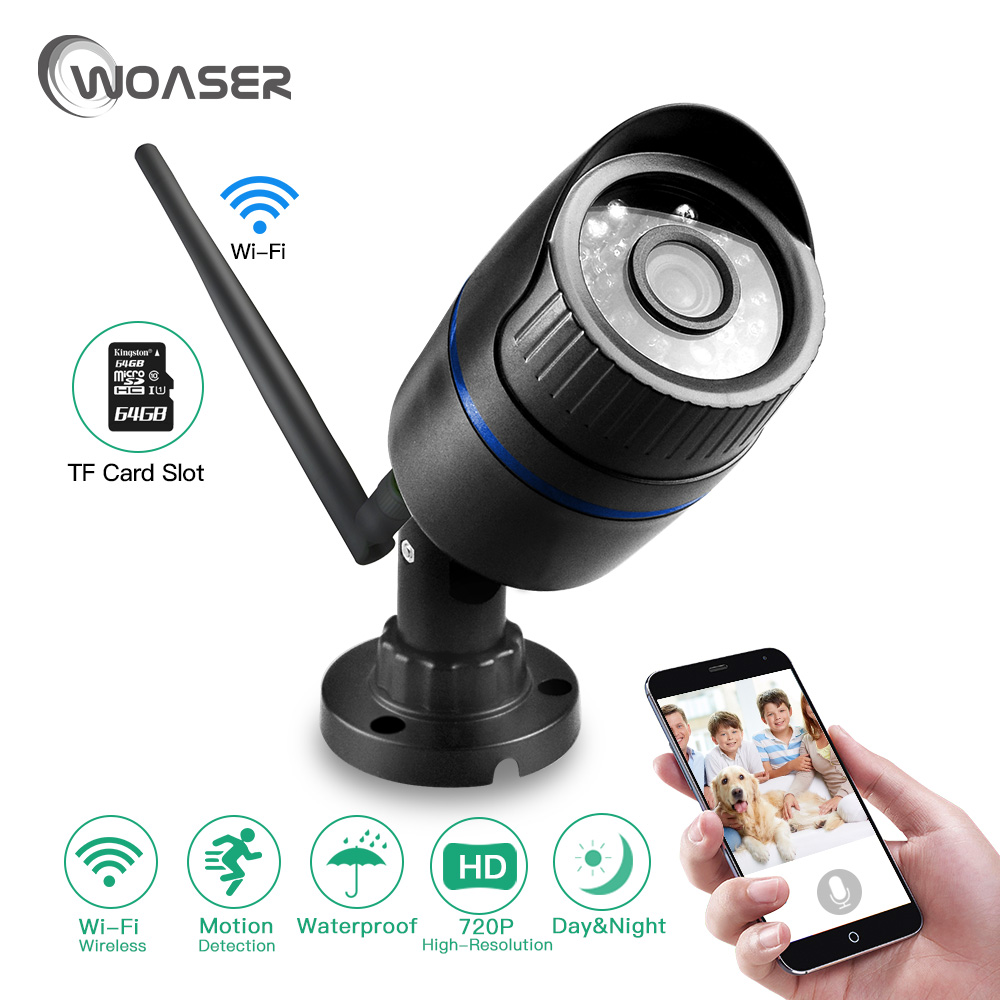 WOASER Yoosee ONVIF HD Wi-fi mini IP Camera outdoor 720p 1080P Bullet Camera With  Home store Mobile phone remote monitoring<br>
