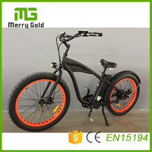 Cheap Price Merry Gold Hummer 2.0 Electric Bike Mountain Bike 48V 750Watt 13Ah 7 Speeds Electric Bicycle Machinical Disc Brakes
