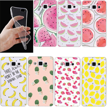 Transparent Clear print Soft TPU Gel Case For Samsung Galaxy S3 S4 S5 S6 S7 edge S3/S4/S5 mini A3 A5 A7 Note 2 3 4 5 Cover