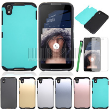 Phone Case For Alcatel OneTouch Idol 4 5.2 OT-6055 Mix Color Anti-shock Slim Hybrid Armor Protective Cover With Films+Stylus(China)