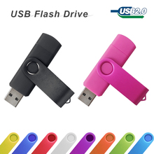 Smart Phone USB Flash Drive pen drive rotatable 32GB 64GB OTG pendrive external storage micro usb memory stick for Samsung