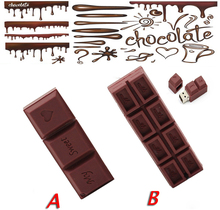Pendrive 128GB yummy chocolate USB Flash Drive Memory Stick/thumb 4g 8g 16g 32g 64g gift flash tiny U Disk external storage