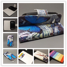 New Butterfly Flower Flag Designer Wallet Flip Stand Book Cover Case For HTC G13 Wildfire S A510E freeshipping