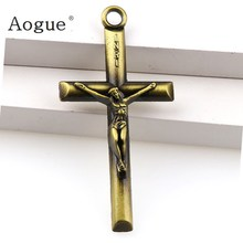 3 Colors Jesus Crucifix Christian Jewelry INRI Crosses Charms Saint Benedict Crucifix Pendants For Pendants Keychain(China)