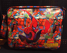 High Quality  the Avengers Spider Man/Iron Man/ Thor/Captain/Superman 3D Picture Full PU Leather Unisex Shoulder Bags